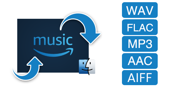 Amazon Music in MP3/AAC/WAV/FLAC konvertieren